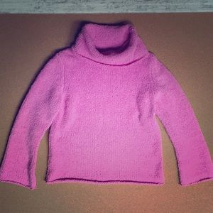 Vintage GAP Girls Cowl Neck Orchid Sweater